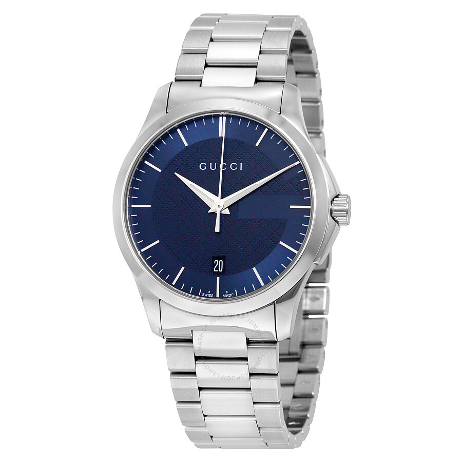 44a977f0b92a3 Gucci G-Timeless Blue Dial Stainless Steel Unisex Watch YA126440