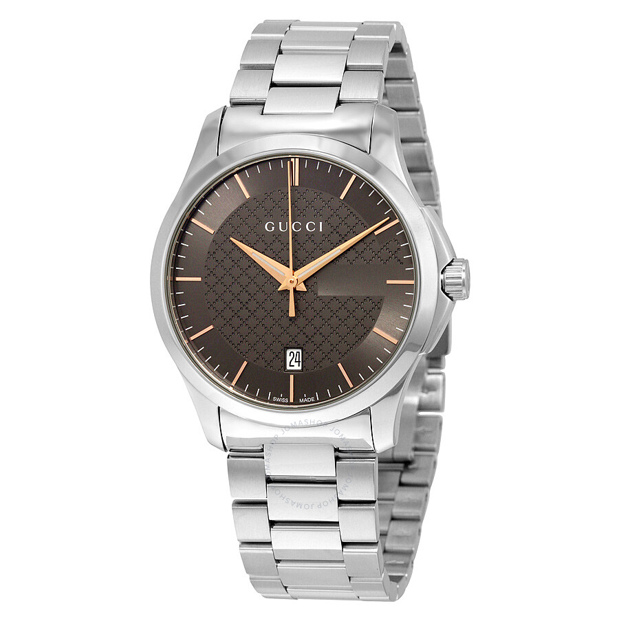 025b6f54150 Gucci G-Timeless Brown Dial Stainless Steel Men s Watch Item No. YA126448