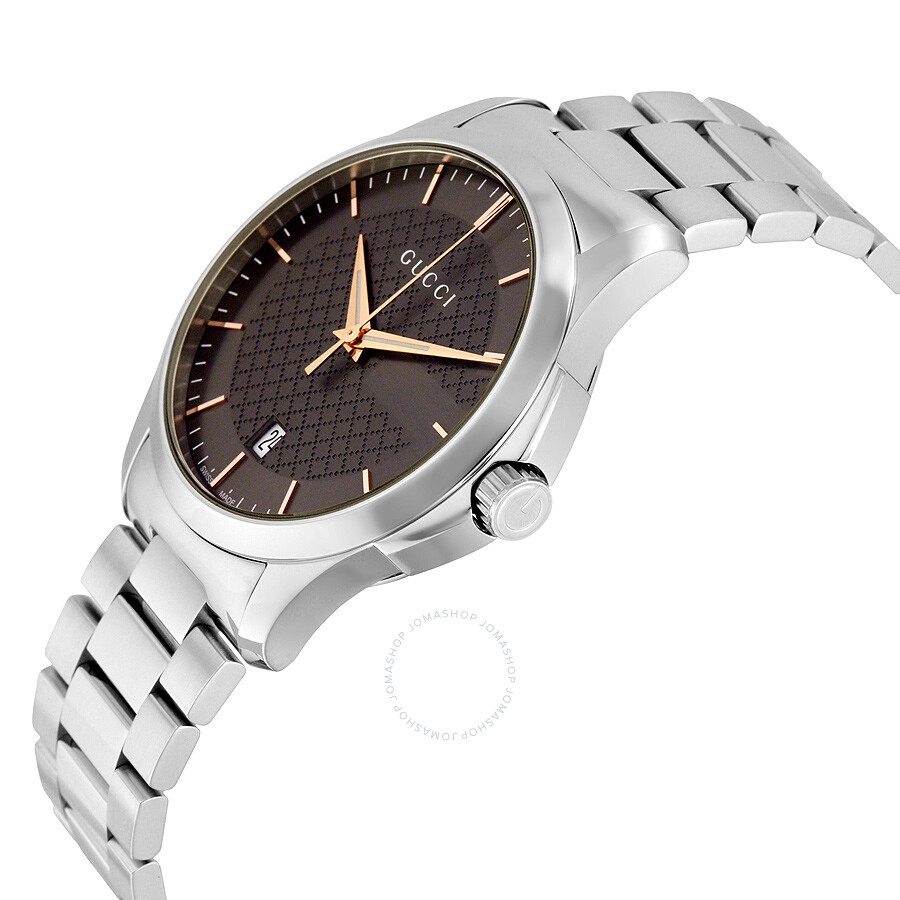 f1c5d051724 Gucci G-Timeless Brown Dial Stainless Steel Men s Watch YA126448 - G ...