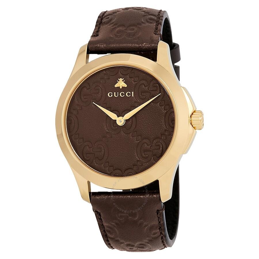 e8f11398cad Gucci G-Timeless Brown GG Dial Men s Watch YA1264035 - G-Timeless ...