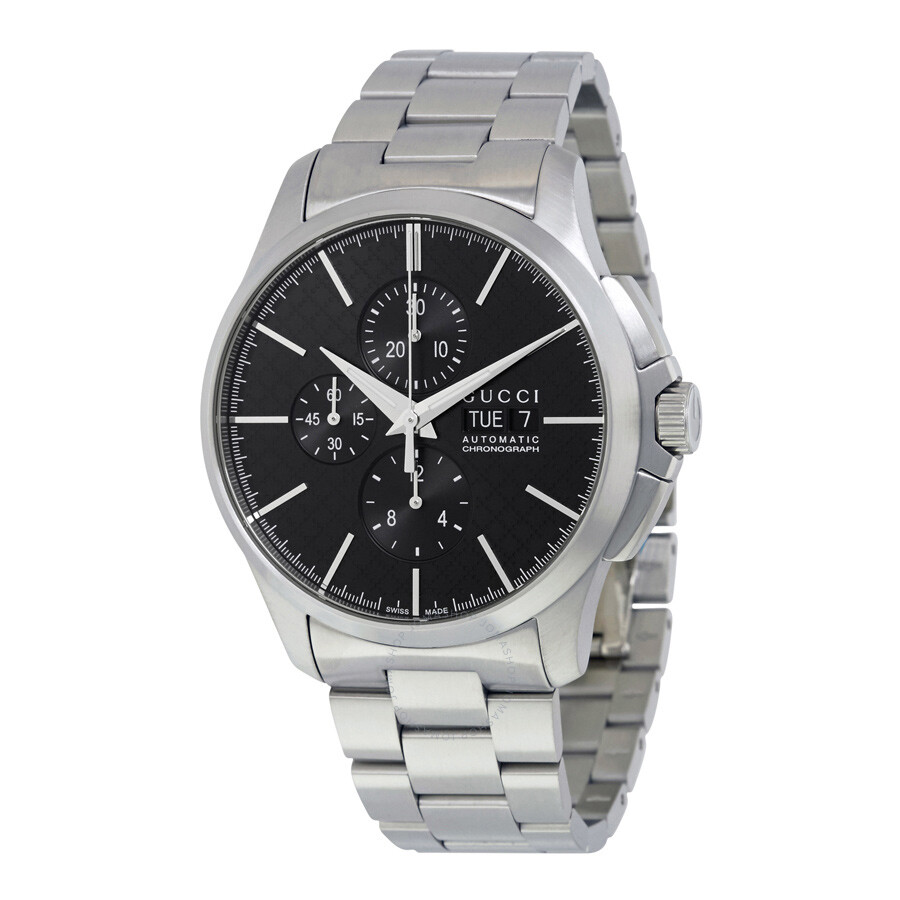 ff45af3098d Gucci G-Timeless Chronograph Automatic Black Dial Men s Watch YA126264 ...