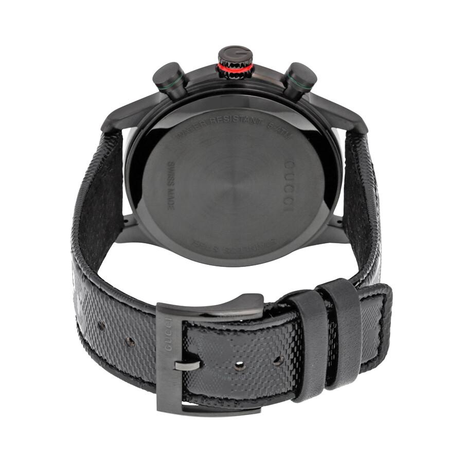 bdfb80e9a57 ... Gucci G-Timeless Chronograph Black Dial Black Fabric Men s Watch  YA126244