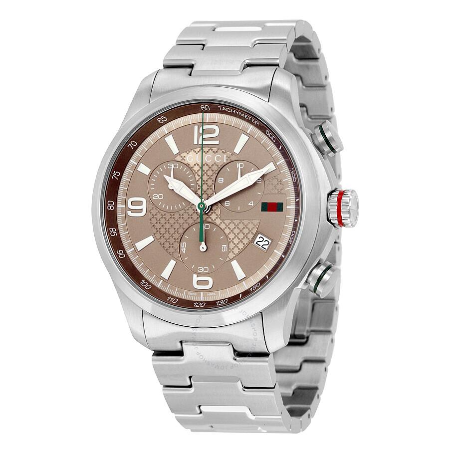 478c94c34cf Gucci G-Timeless Chronograph Brown Dial Men s Watch YA126248 - G ...