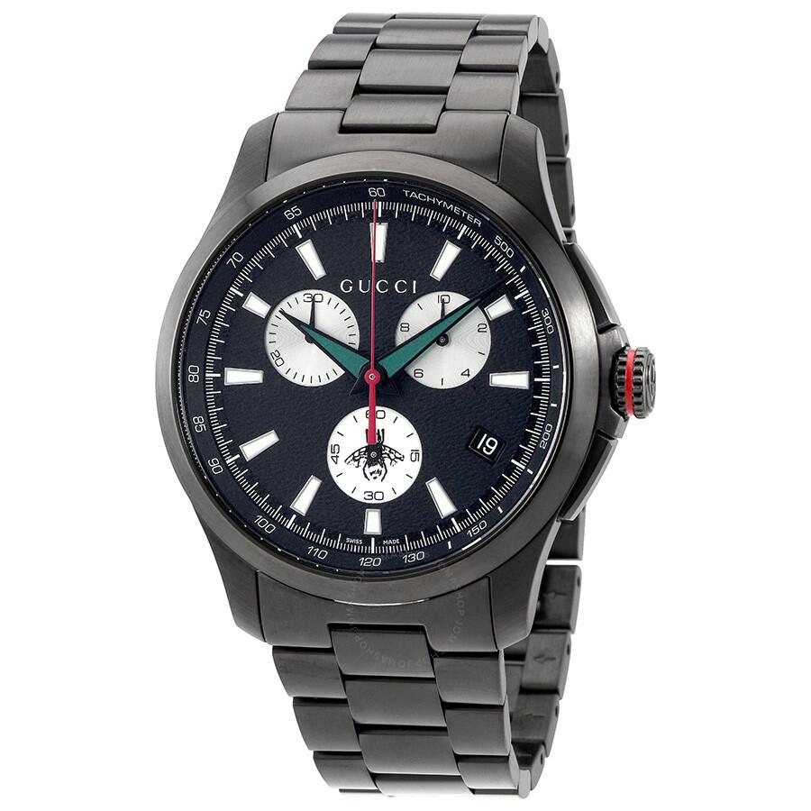 42cefb95519 Gucci G-timeless Chronograph XL Black Dial Men s Watch YA126268 - G ...