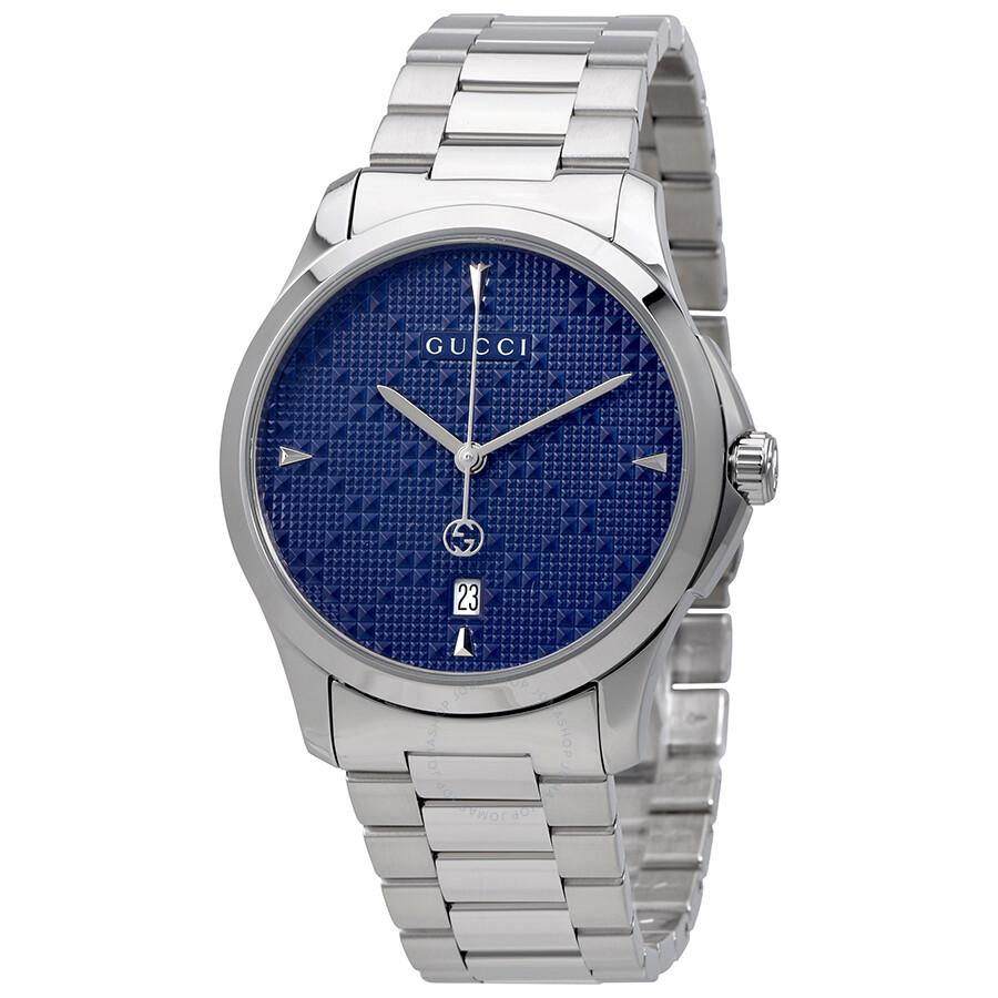 ea0afdd8f4d Gucci G-Timeless Diamante Blue Dial Unisex Watch YA1264025 - G ...