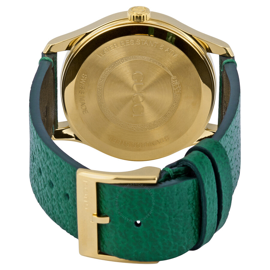1496a02ecc8 ... Gucci G-Timeless Emerald Green with Bee Motif Dial Unisex Watch  YA1264065