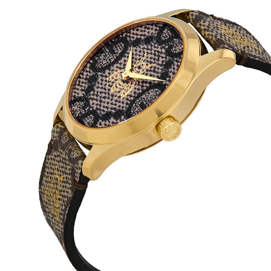 f3ff935fbbf Gucci G-Timeless GG Supreme Canvas Dial Unisex Watch YA1264068 - G ...