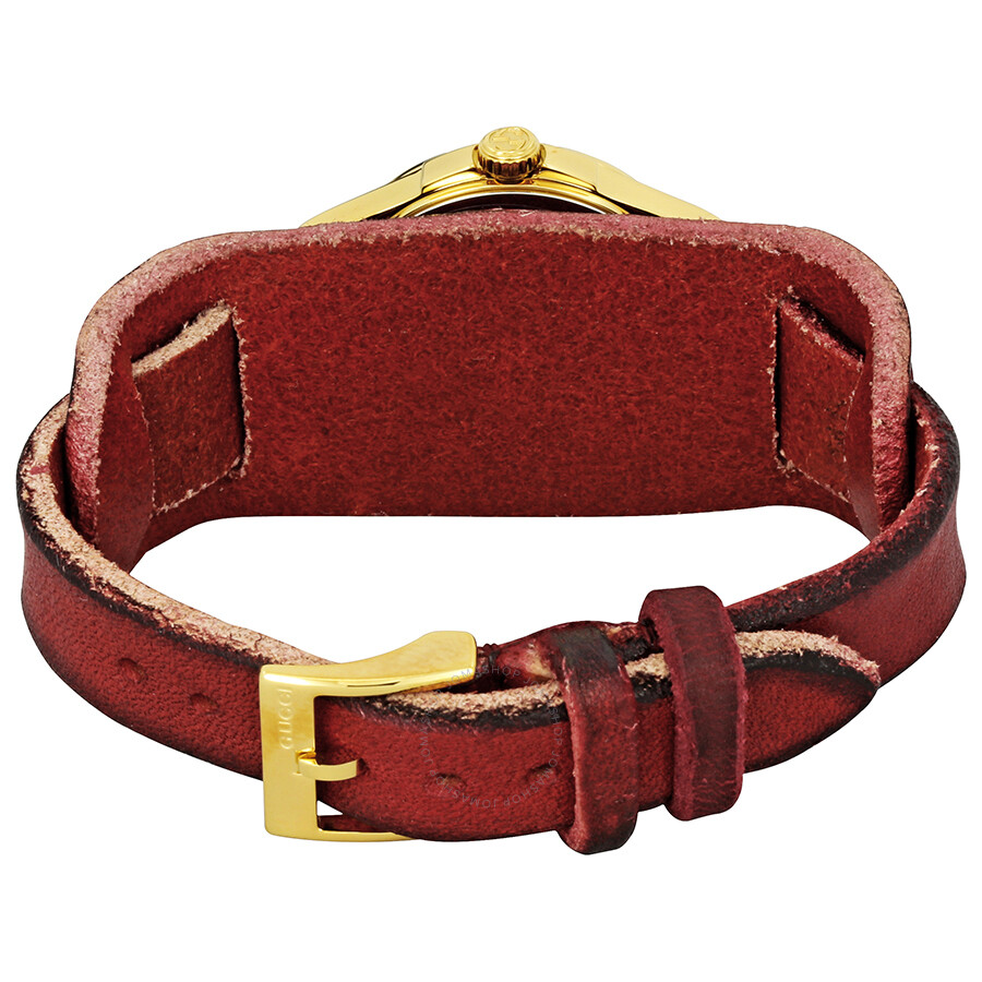 Leather Gmbh Contact Us Email Sales Mail: Gucci G-Timeless Green And Red Nylon Dial Ladies Cuff