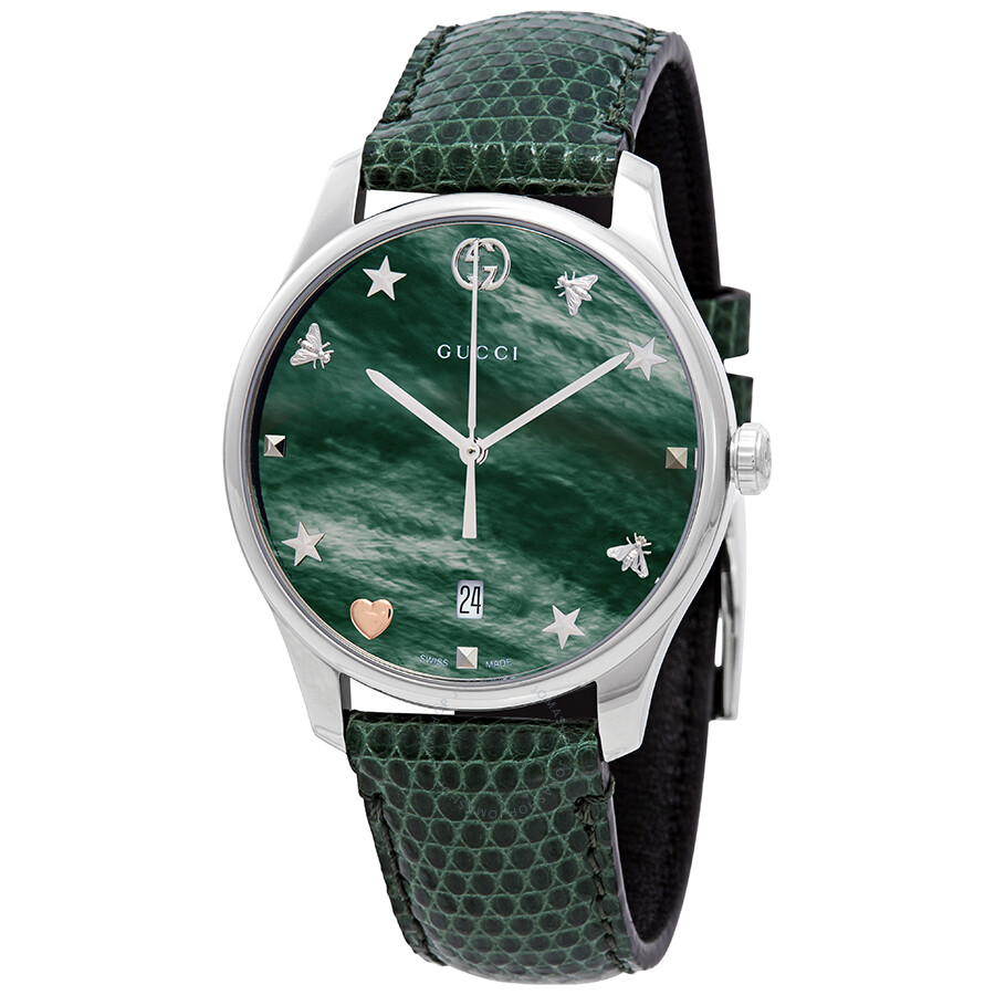 9d9d0dcc7d Gucci G-Timeless Green Mother of Pearl Dial Ladies Watch YA1264042 ...