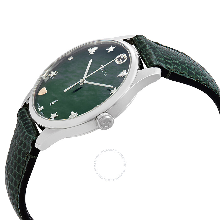 e5f250d418a ... Gucci G-Timeless Green Mother of Pearl Dial Ladies Watch YA1264042 ...