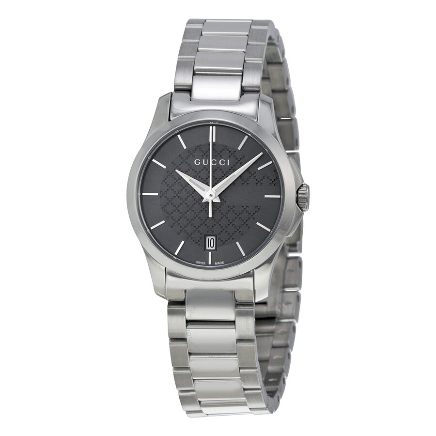 96d30caca04 Gucci G-Timeless Grey Dial Stainless Steel Ladies Watch YA126522 - G ...