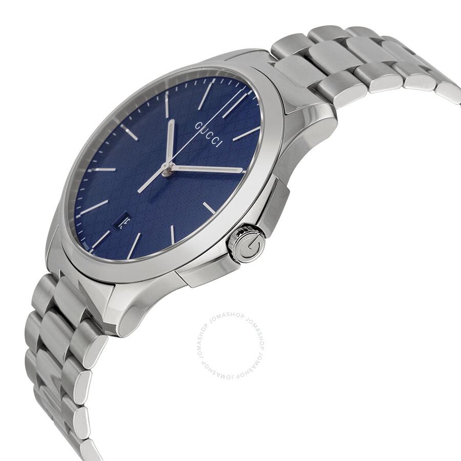 5c97f5c92b6 ... Gucci G-Timeless Large Blue Diamond Pattern Dial Stainless Steel Men s  Watch YA126316 ...