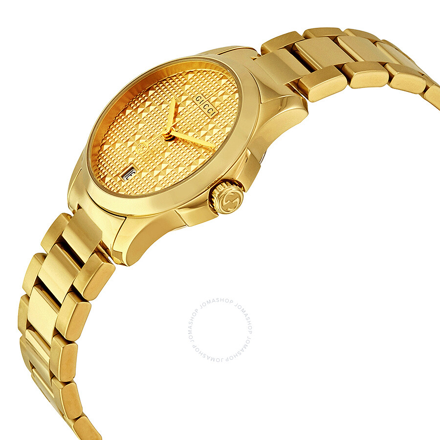 gucci g timeless light yellow gold pvd steel ladies watch ya126553 gucci g timeless light yellow gold pvd steel ladies watch ya126553