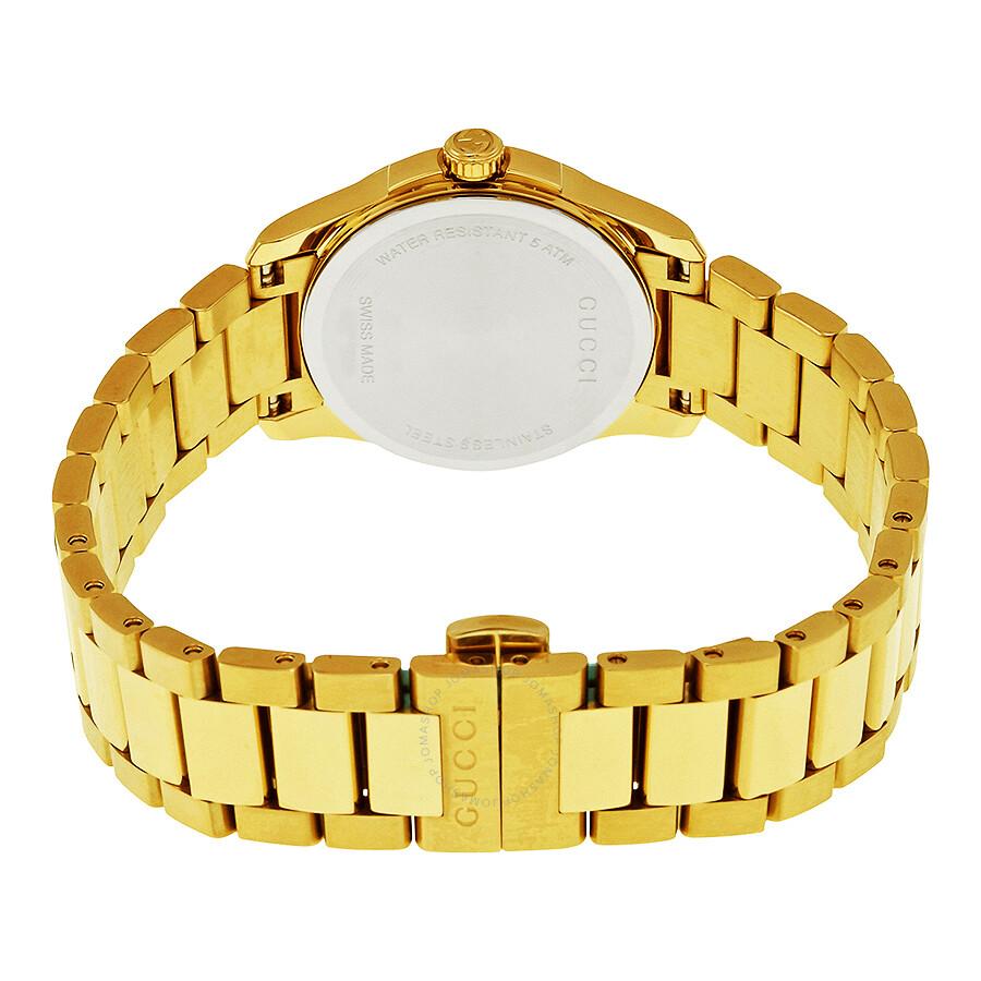 3fd7b374a86 Gucci G-Timeless Light Yellow Gold PVD Steel Ladies Watch YA126553 ...