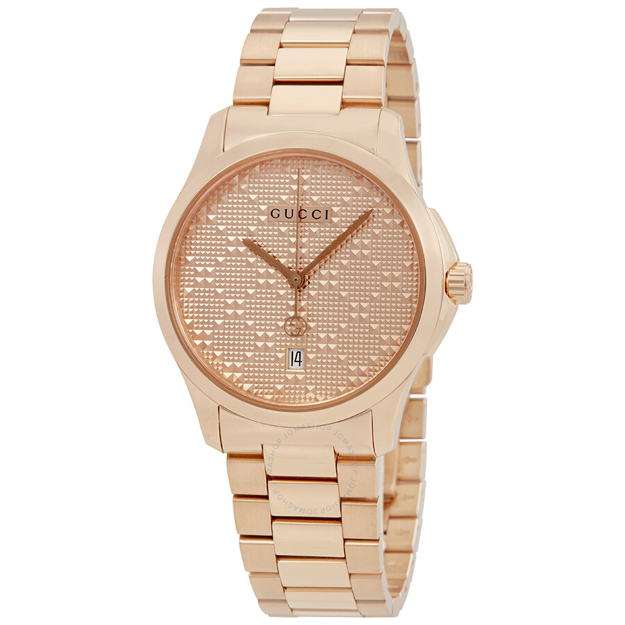 56cca3f412b Gucci G-Timeless Rose Gold Dial Ladies Watch YA126482 - G-Timeless ...