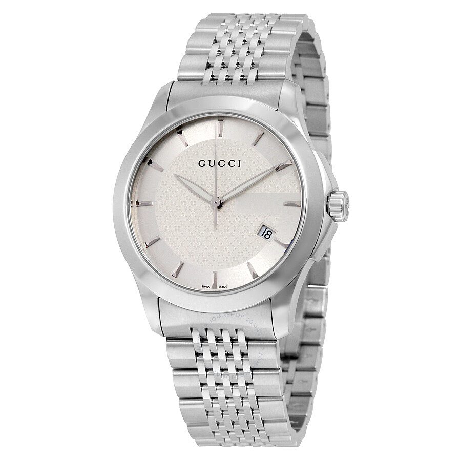 Gucci G Timeless Men S Stainless Steel Bracelet Watch Ya126401