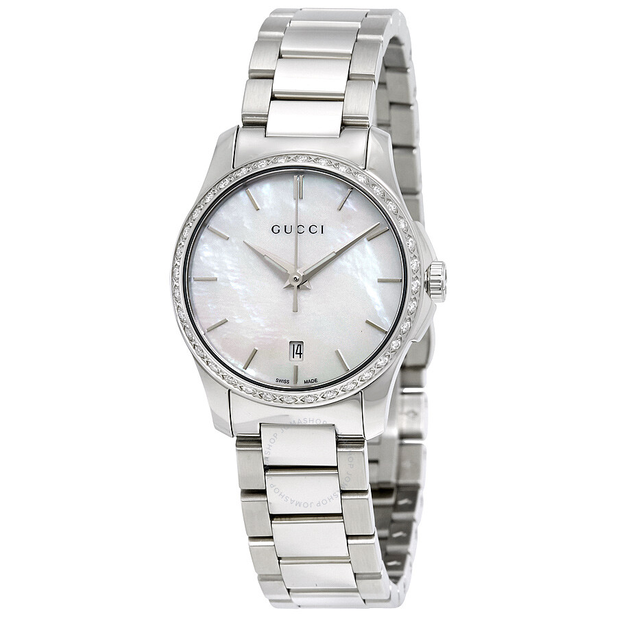 1a190236001 Gucci G-Timeless Mother of Pearl Dial Diamond Ladies Watch YA126525 ...