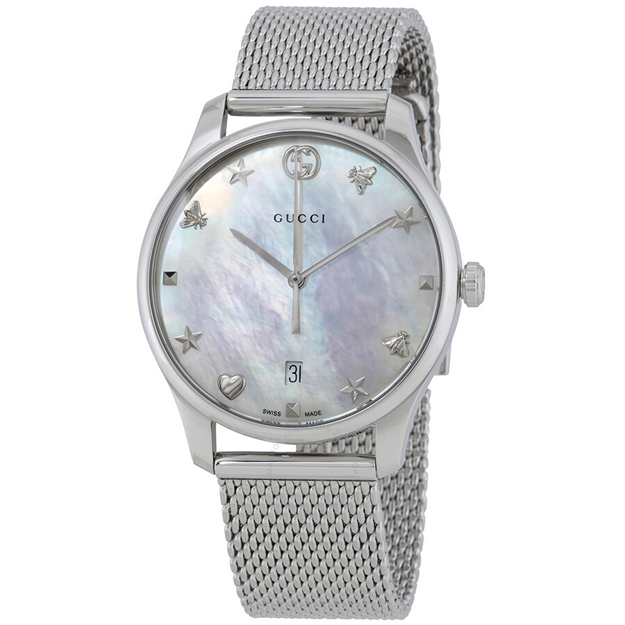 c5e42ed38 Gucci G-Timeless Mother of Pearl Dial Ladies Watch