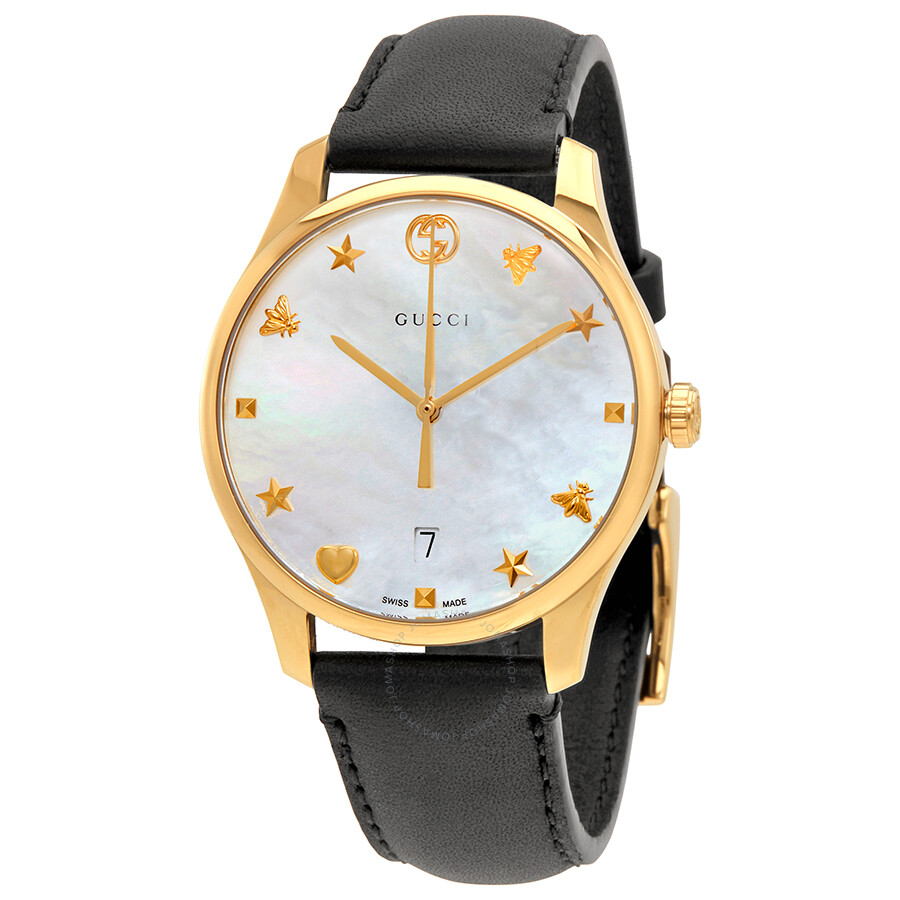 e5e4be024f6 Gucci G-timeless Mother of Pearl Dial Ladies Watch YA1264044 - G ...