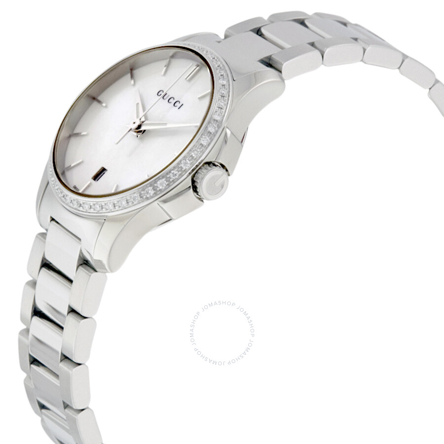 b2443e70ff3 Gucci G-Timeless Mother of Pearl Diamond Ladies Watch YA126543 - G ...