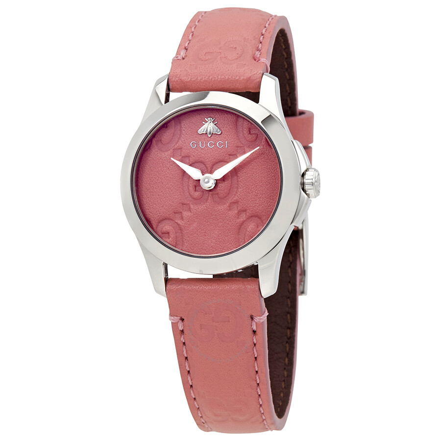 c8edd5caccd Gucci G-Timeless Pink Dial Ladies Watch YA126578 - G-Timeless ...