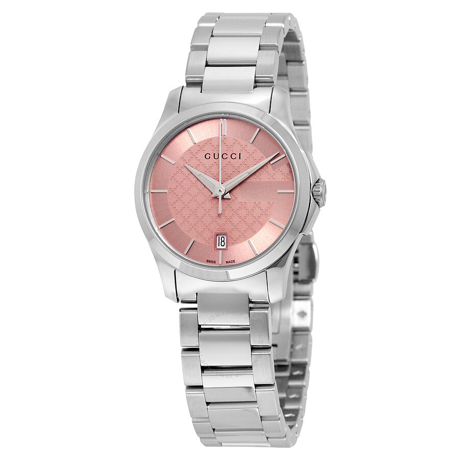 gucci g timeless pink stainless steel