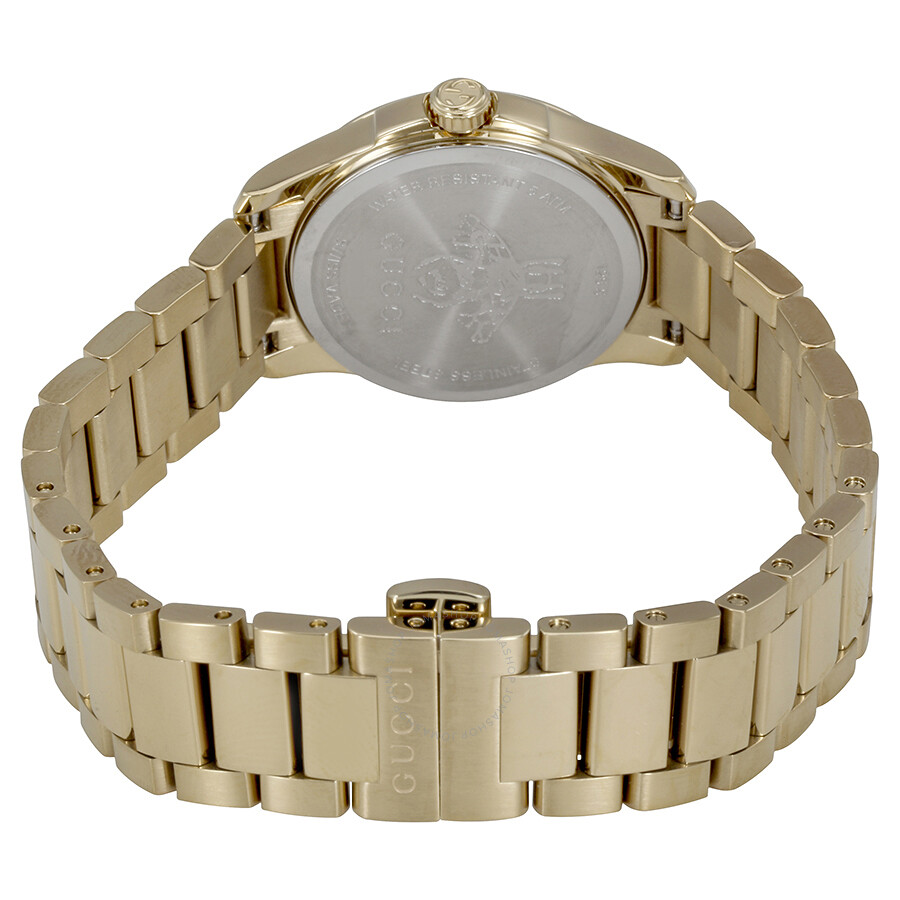 3a05afc4615 Gucci G-Timeless Silver Dial Gold PVD Ladies Watch YA126576 - G ...