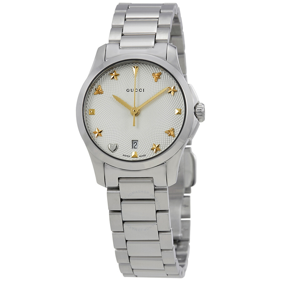 4affda6fbce Gucci G-Timeless Silver Dial Stainless Steel Ladies Watch