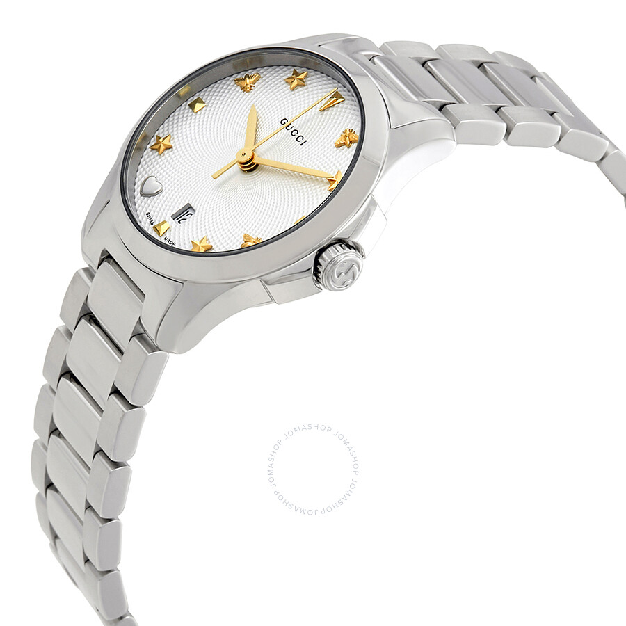 b8df132531e ... Gucci G-Timeless Silver Dial Stainless Steel Ladies Watch YA126572 ...