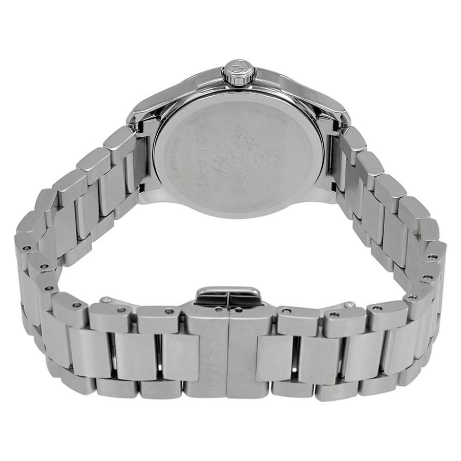 da312218284 Gucci G-Timeless Silver Dial Stainless Steel Ladies Watch YA126572 ...