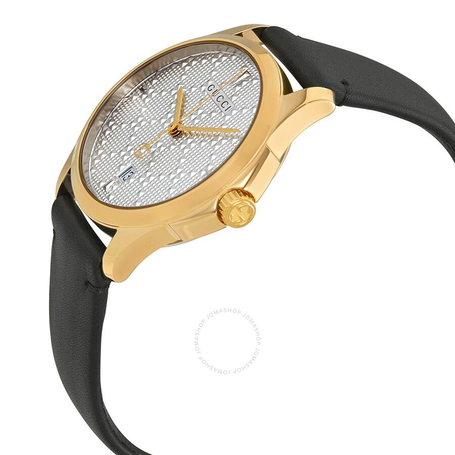7f81bbd1e12 Gucci G-Timeless Silver Dial Black Leather Men s Watch YA1264027 - G ...