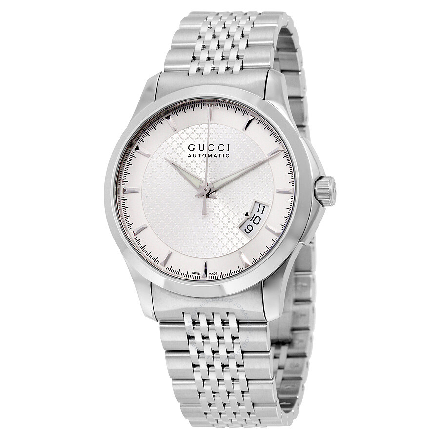 500d9d5abff Gucci G-Timeless Silver Dial Stainless Steel Automatic Men s Watch YA126417  ...
