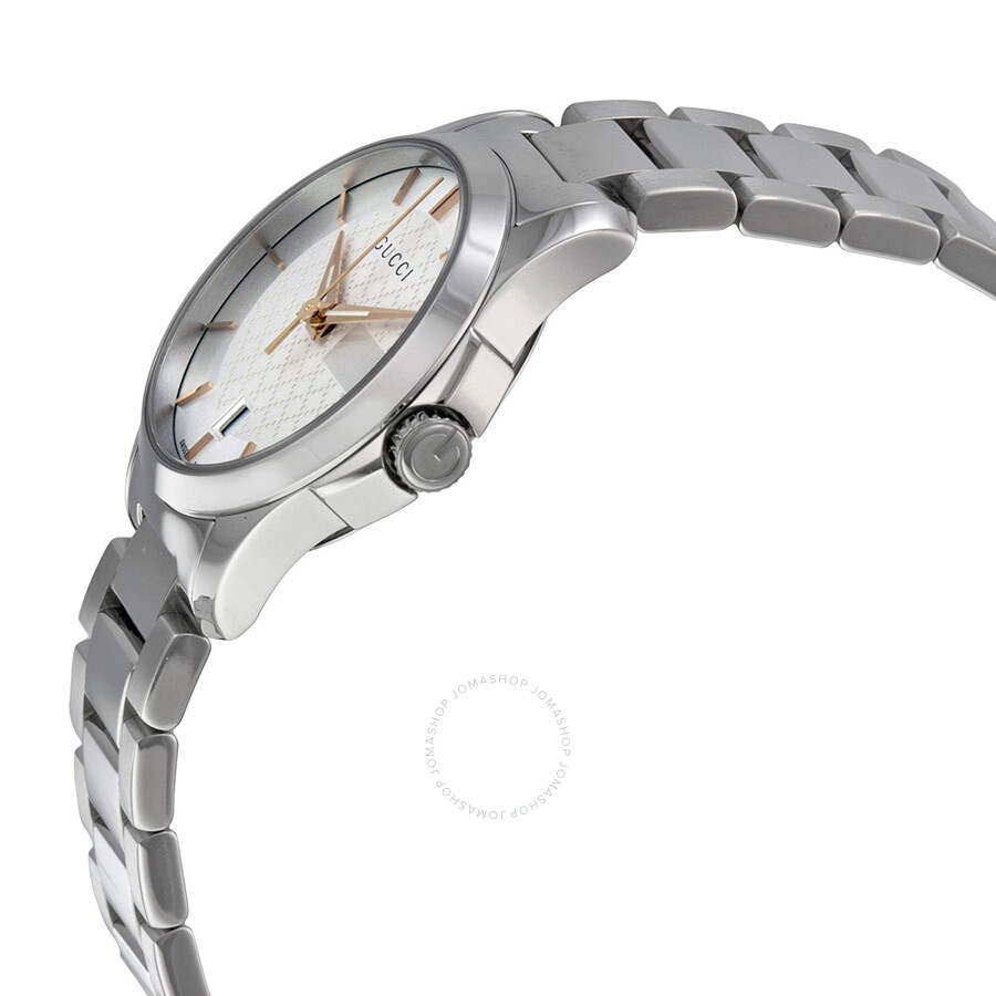 23976275e23 ... Gucci G-Timeless Silver Dial Stainless Steel Ladies Watch YA126523 ...