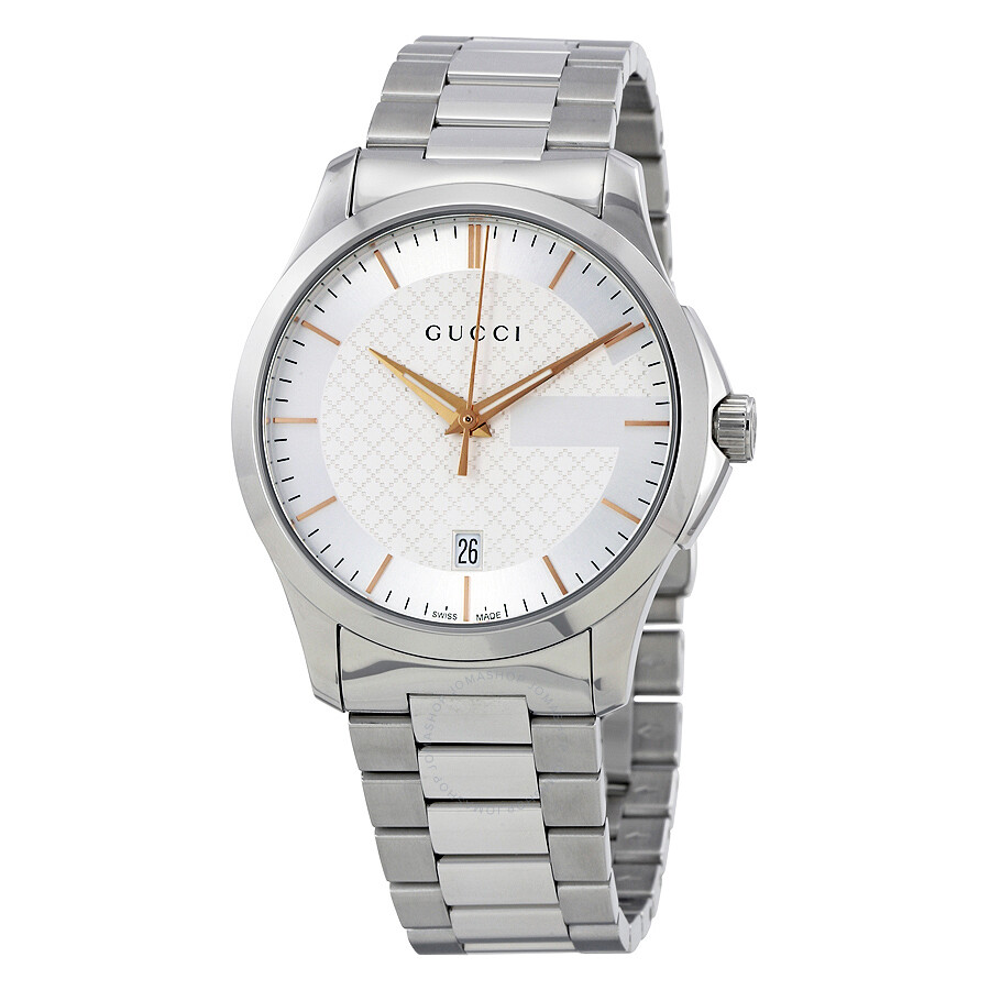 17c1ff8abecf3 Gucci G-Timeless Silver Dial Stainless Steel Unisex Watch YA126442