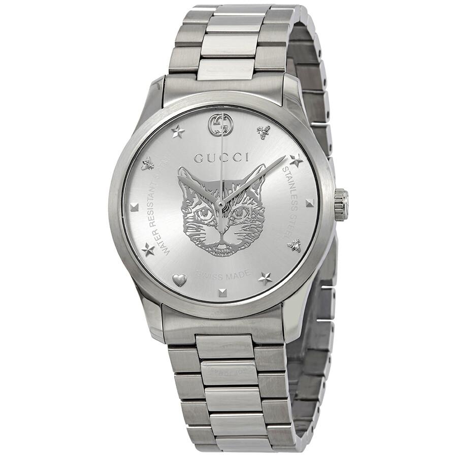 b9f9583adb5d7 Gucci G-Timeless Silver Dial Stainless Steel Watch YA1264095
