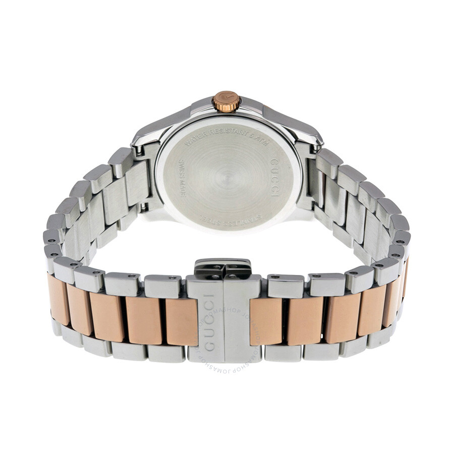 ac3f93e47ac Gucci G-Timeless Silver Dial Two-tone Ladies Watch YA126528 - G ...