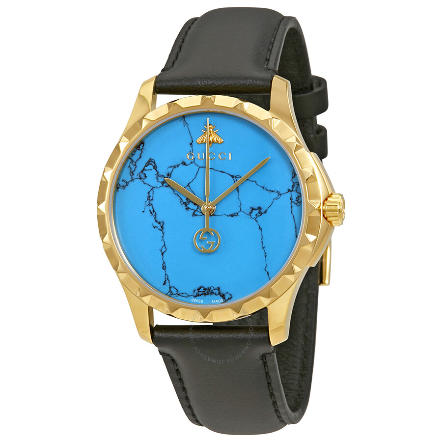 e2db918f31a Gucci G-Timeless Turquoise Blue Dial Men s Watch YA126462 - G ...