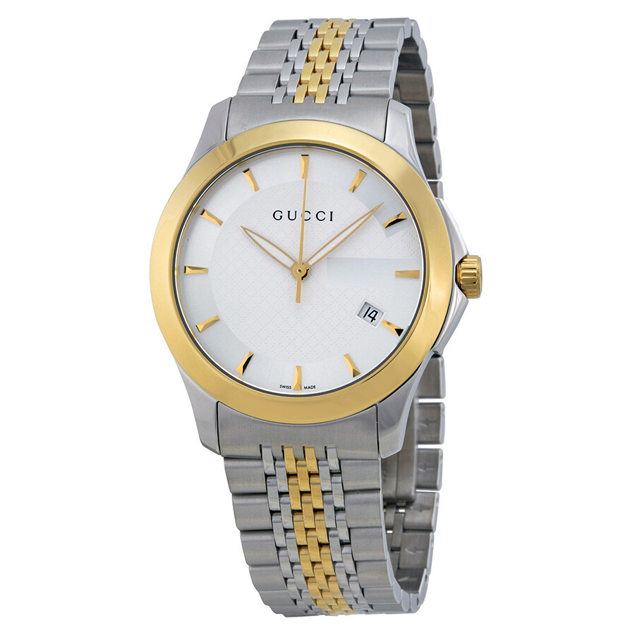 2bfefbc7edf Gucci G-Timeless Two-tone Stainless Steel Unisex Watch YA126409 - G ...