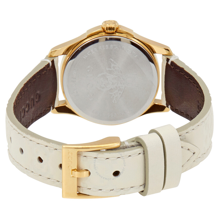 aa7d41aa134 Gucci G-Timeless White Dial Ladies Leather Watch YA126580 - G ...