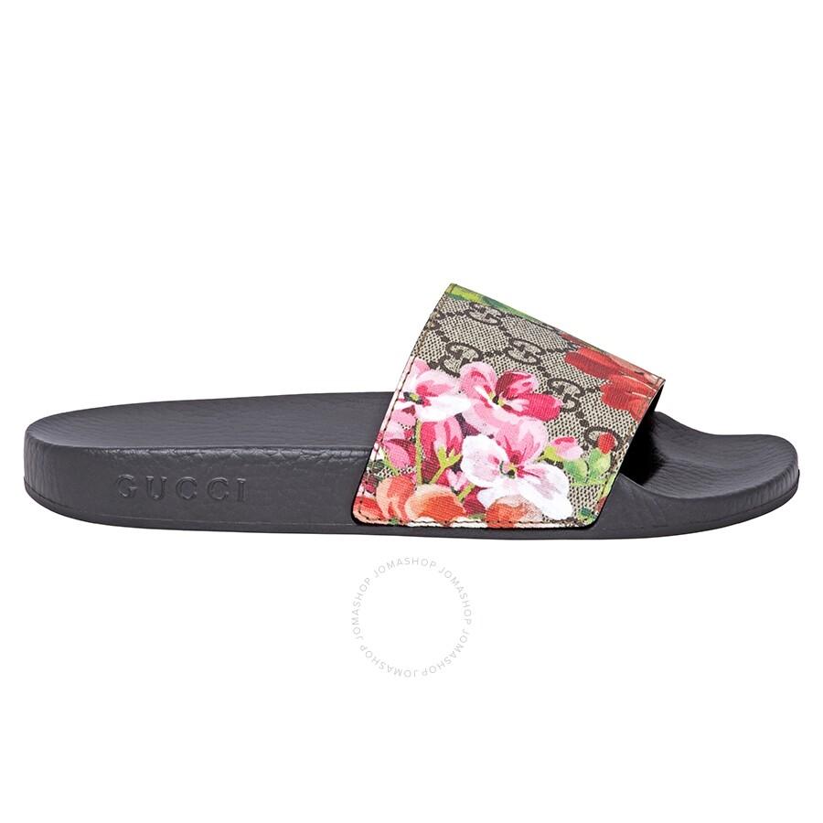 5a818c30f5a Gucci GG Blooms Supreme Slide Sandal- 37 - Shoes - Fashion   Apparel ...