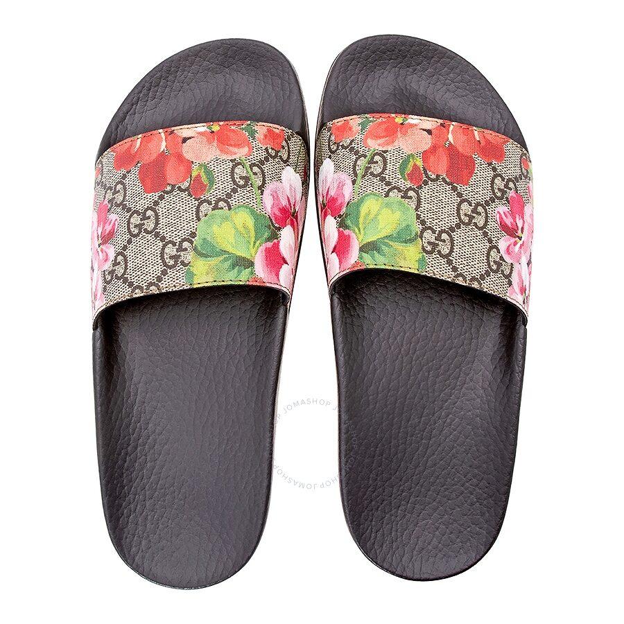 Gucci Gg Blooms Supreme Slide Sandal 37