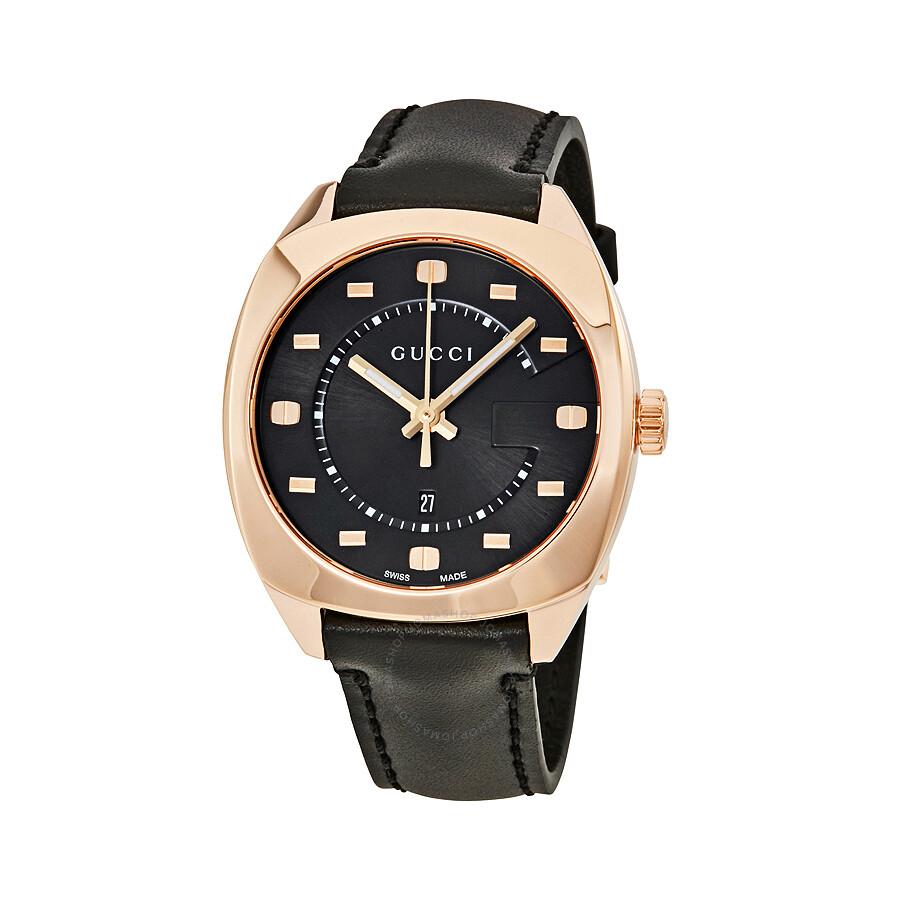 c9a12cd7454 Gucci GG2570 Black Dial Rose Gold-tone Ladies Watch YA142407 ...