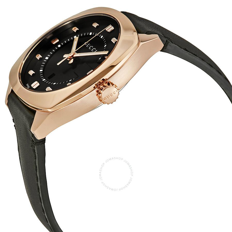f2d30c85dc4 ... Gucci GG2570 Black Dial Rose Gold-tone Ladies Watch YA142407 ...