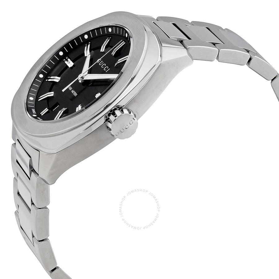 853d73ccc47 Gucci GG2570 Xl Black Sun Brushed Dial Men s Watch YA142201 - GG2570 ...