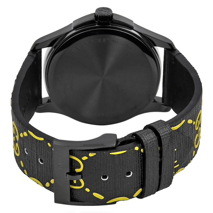 f57f0fd2737 ... Gucci Ghost G-Timeless Black and Yellow Dial Men s Rubber Watch  YA1264019