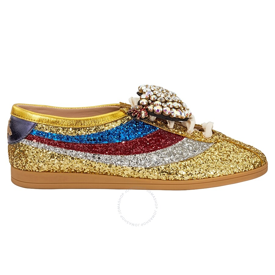 2703457782f6 Gucci Glitter Sneakers- Gold - Shoes - Fashion & Apparel - Jomashop
