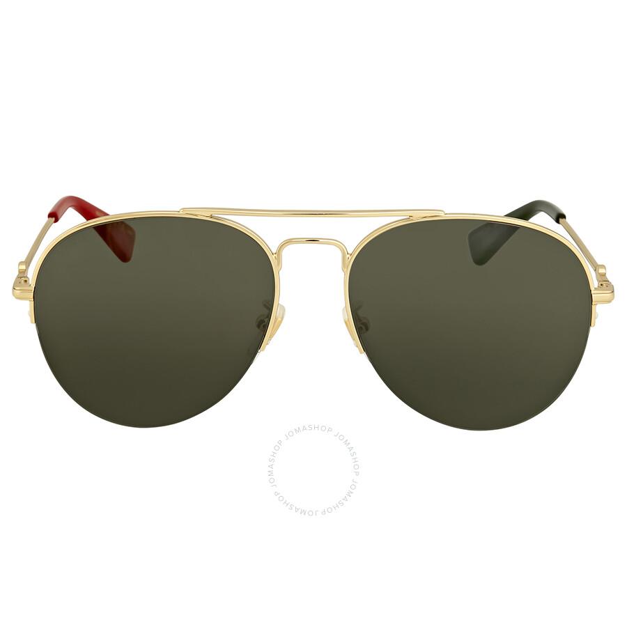 a10df539ee Gucci Gold Aviator Sunglasses Item No. GG0107S 004 56