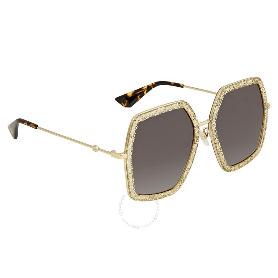 4f2c72f9aea Gucci Gold Glitter Sunglasses GG0106S 005 56 - Gucci - Sunglasses ...