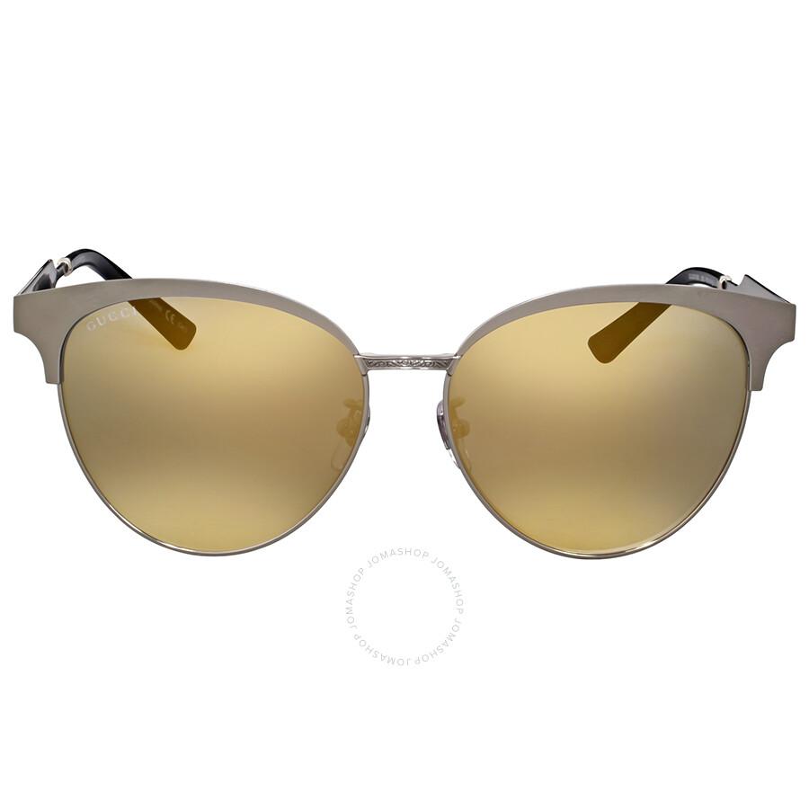 5d08a7d548 Gucci Gold Mirror Cat Eye Sunglasses - Gucci - Sunglasses - Jomashop