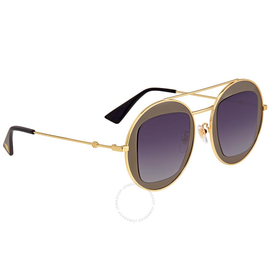 08e8a8dc8 Gucci Gold Round Sunglasses - Gucci - Sunglasses - Jomashop